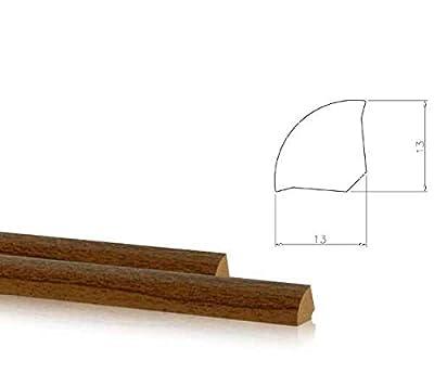 2,5m Viertelstab Sockelleisten Eckprofil Winkel 13x13mm -- 25-15-009 Grau