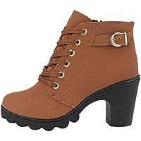 Mode Mädchen Frauen High Heel Schnüren Seite Reißverschluss Schnalle Stiefeletten Winter Pumps Wildleder Schuhe... preisvergleich bei billige-tabletten.eu