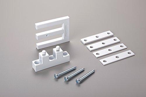scheffinger EM3_weiss Fenstersicherung für Fenster oder Türen aus Kunststoff / Holz / Aluminium, Einbruchschutz DIN zertifiziert, hochwertiger Stahl, weiß