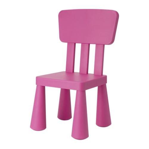IKEA Kinderstuhl MAMMUT Kindermöbel Stuhl in PINK ROSA unverwüstlich