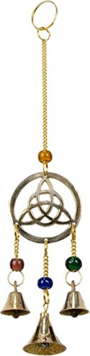 Mobile 3 cloches - triquetra en laiton