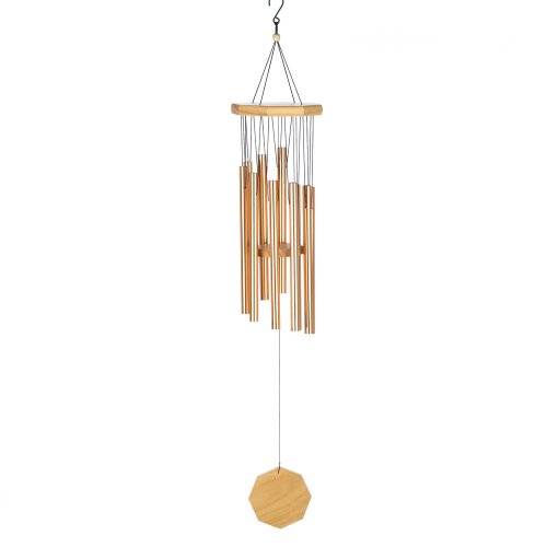 copper-tone-metal-and-wood-windchime