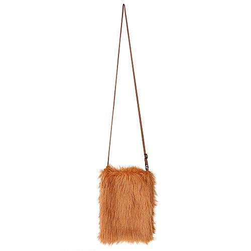 WOOOOZY Tasche aus Plüsch, braun