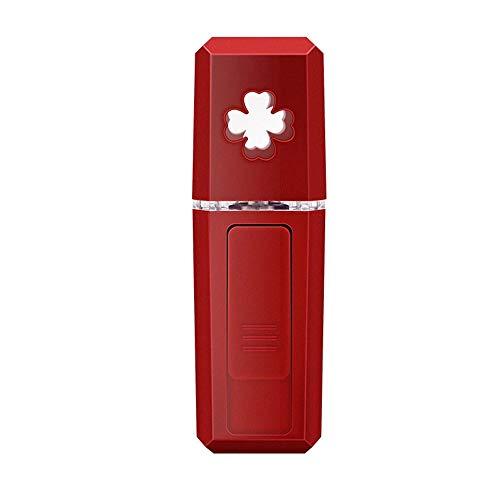 Nuanxin Handheld Cold Spray Hydrating Instrument, Gesichts-Luftbefeuchter, USB-Aufladung Convenient Nano Face Steamer, 39 G Können Milch Hinzufügen R10 (Color : Red) -