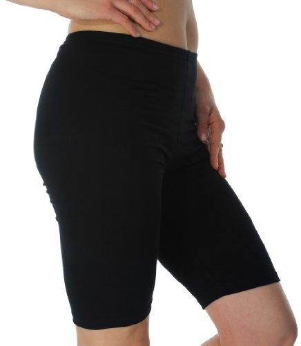 Radfahren Gym Laufen Yoga Hose Leggins, knielang, Länge: 95% Baumwolle, Intensive Farben, Größen: S-XXXL Mehrfarbig - Schwarz