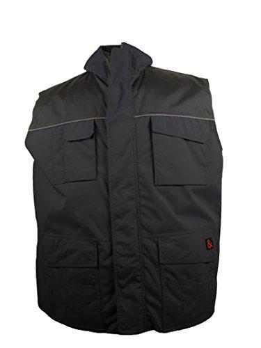 2 in 1 Arbeits- Weste in schwarz von marc&mark in großen Größen bis 10XL, Größe:6XL