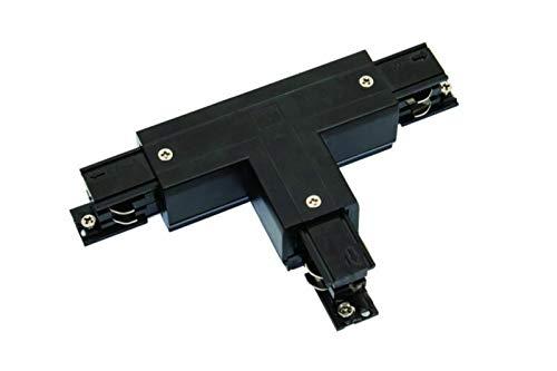 Rail d'alimentation en T à 3 phases gauche 1 Powergear noir blanc Noir