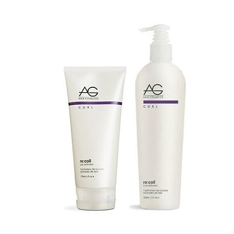 AG Hair Re-Coil Curl Activator 6oz + 12oz (Duo Set) by AG Hair Cosmetics (Recoil Curl-activator)