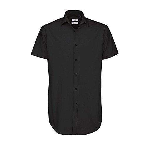 B&C Black Tie - Chemise formelle à manches courtes - Homme Rouge