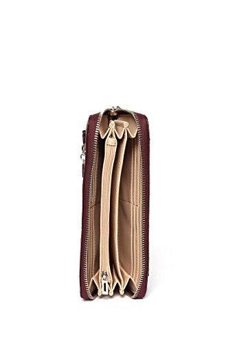 Guess Swcg5067460, Borsa a Tracolla Donna, 2x10x21 cm (W x H x L) Rosso (Bordeaux)