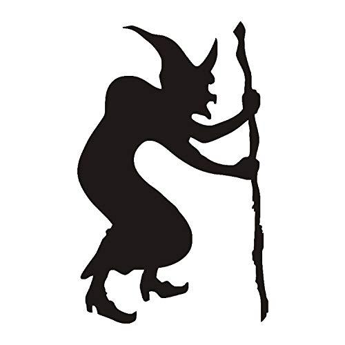 liuweidedian Buckelhexe Wandaufkleber Wandtattoos Silhouette Hexe Tapete Halloween Dekoration Wohnkultur 58X90 cm