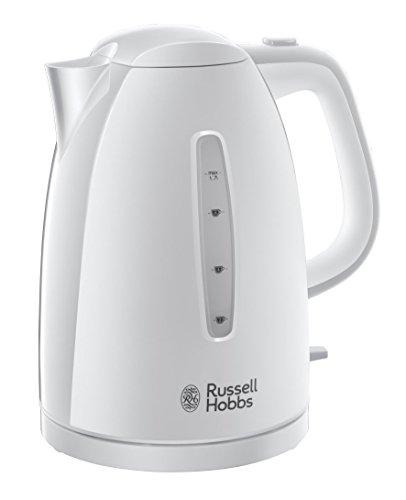 Russell Hobbs 21270-70 Textures Wasserkocher, Perfect Pour-Ausgusstülle, 1.7 L, 2400 W, weiß