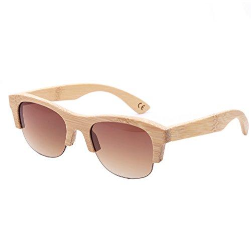 1 Pieza Gafas De Sol Hechas A Mano De Bambú UV400 Con Estuche De Las Gafas Para Hombres Y Mujeres (2)