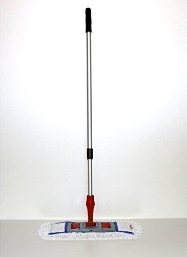 CleanSV Mop Set 40 cm 3 teilig, Mopset bestehend aus 40 cm Mophalter, 40 cm Baumwollmop und Teleskopstiehl
