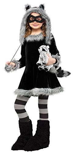 Horror-Shop Waschbär Kostüm für Kinder als Faschings, Karnevals & Halloween Kostüm L (Kostüm Waschbär Halloween)