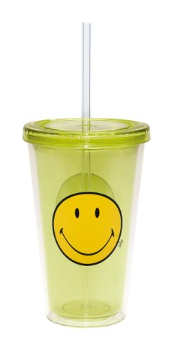 Zak Designs 6187-0850 Smiley double wall ice Trinkglas 49 cl
