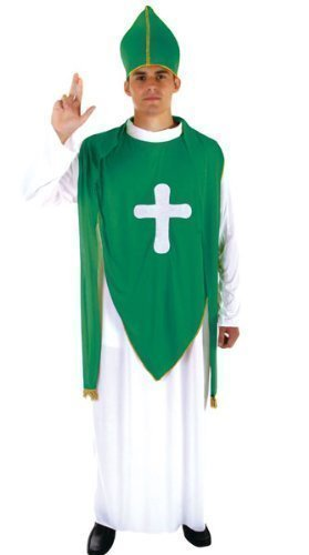 Costume irlandese da uomo, da San Patrizio, taglia unica, (Priest Costume)