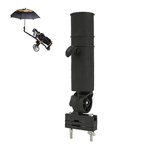 Golfschirmhalter ABS Einstellbare Ständerhalterung Regenschirmhalter Golfzubehör Universal für Rollstuhl/Rollator Schwarz