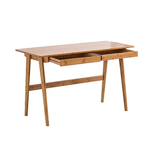 Zhuozi FUFU Tische Retro Style Computer Schreibtisch Laptop Schreibtisch Schreibtisch Tisch Eiche 2 Schubladen Drop-Blatt-Tabelle - Picknick-tische Eiche