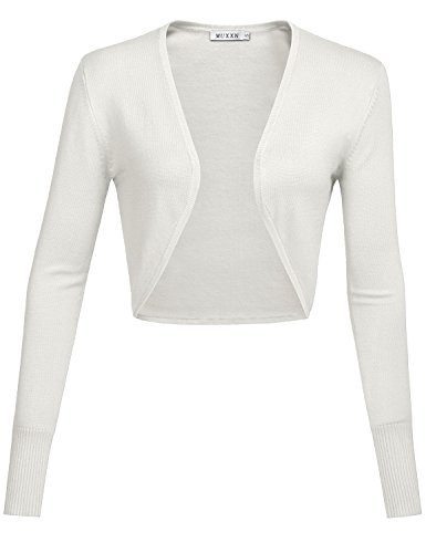 Bolero strickjacke wei for Garderobe bolero