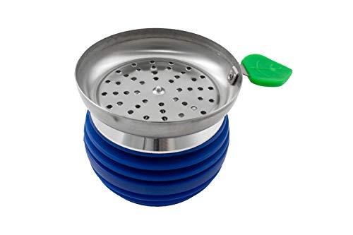 Cazoleta para cachimba shisha hookah con base de metal - Diseño premium - Silicona ignífuga PG-010...