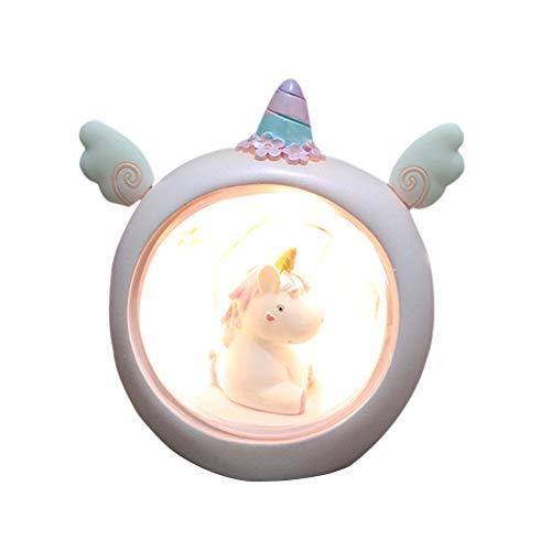 Ruiting Lámpara Unicornio LED Unicornio Luminoso Lámpara de Mesa Luz de la Noche Decoración Fiesta para Dormitorio de Niños y Bebé