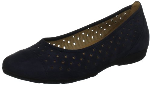 Gabor Shoes Gabor 84.169.16, Ballerine Donna (Nightblue Nubuck)