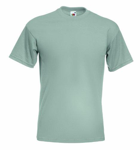 Fruit of the LoomHerren T-Shirt Grau Light Graphite (Polo Doppel-Ärmel)
