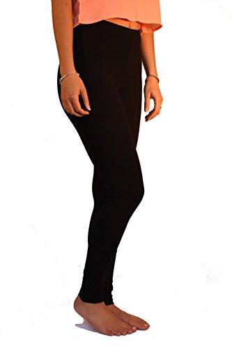 Legging long High Rise Viscose élasthanne Noir
