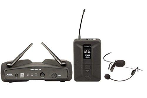 PROEL WM600H Sistema Microfonico Wireless con Bodypack Archetto PLL UHF
