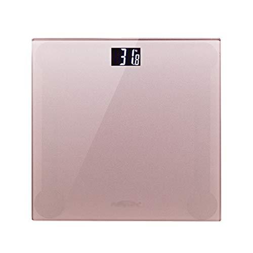 LWZ-Waagen Personenwaagen Home Electronics Waage Hohe Präzision Badwaage Erwachsenen Gewichtsverlust Gewichtsanzeige HD Nachtsicht Schalteinheit Smart Power Saving 180kg Kapazität (Farbe : Roségold)