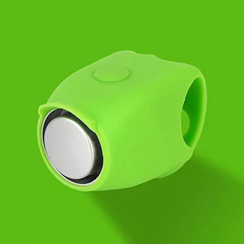 DYV Fahrrad kleine Glocke 120db Mini Silikon Radfahren Laut Lange Knackig Klar Sound fahrradklingel 6 Farben kleine Elektronische Horn für Erwachsene Jungen und Mädchen 35 * 110mm -