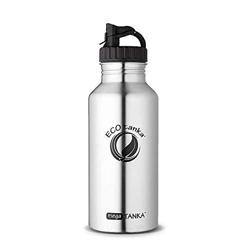 ECOtanka megaTANKA, 2000ml, Edelstahl-Trinkflasche, BPA-frei, Ökologisch, robust