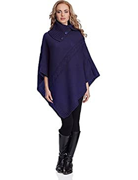 Merry Style Mujer Poncho Evita