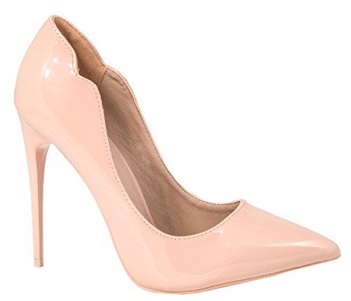 Elara Damen Pumps   Trendige Spitze Stilettos   High Heels , Pink 37
