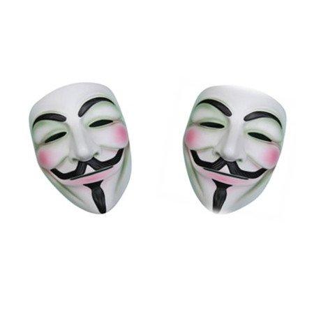WAWO V Per Vendetta Costume Maschera di colore bianco X2