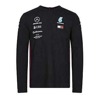 Mercedes-AMG Petronas Motorsport Men's 2019 F1TM Team Long Sleeve Driver T-shirt (XXL, Black)