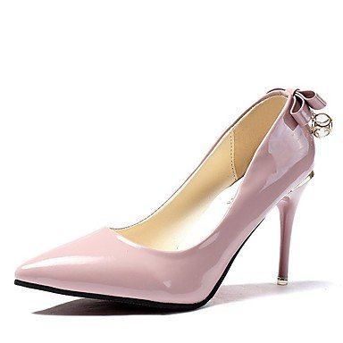 Wuyulunbi@ Scarpe donna pu molla Comfort tacchi Stiletto Heel Punta Bowknot di abbigliamento casual Rosa Rosso Nero Grigio Rosa