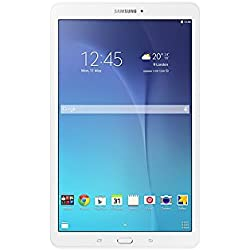 Samsung Galaxy Tab E Tablette Tactile, 9,6 pouces, Blanc (Spreadtrum, 8 Go, RAM 1,5 Go, Android), QWERTY
