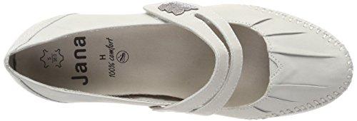 Jana 24611, Zapatos De Tacón Blanco Para Mujer (blanco)