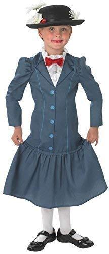 Fancy Me Offiziell Disney Mädchen Mary Poppins Reich Viktorianisch Buch Tag Woche Verkleidung Kleid Kostüm Outfit Alter 3-10 Jahre - Blau, Blau, 11-12 ()