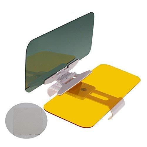 DOLYUU Auto Sonnenschutz, 2 in 1 Blendschutz Auto Sonnenblende, Tag Und Nacht Fahren Sonnenblende. - Schablone Richtung 1