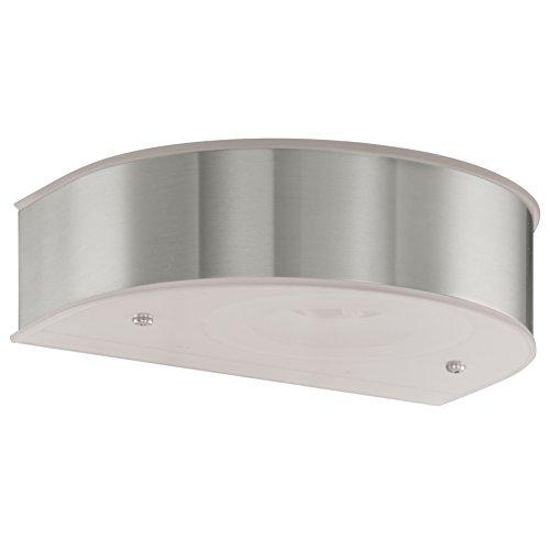 LED 12 Watt Außen Wand Leuchte Garten Lampe Edelstahl Glas klar IP44 3000K oben & unten Beleuchtung EGLO 91665