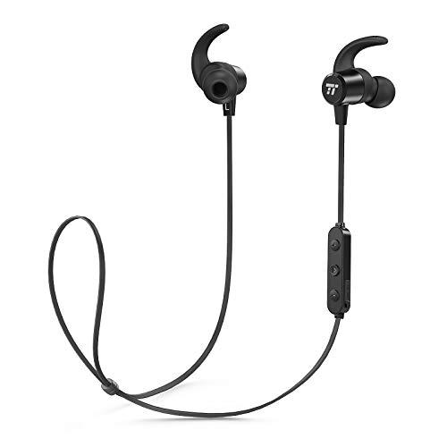 Bluetooth Kopfhörer 4.2 TaoTronics schweißgeschützte kabellose Kopfhörer, IPX6 Sport Kopfhörer mit 8 Stunden Wiedergabezeit Magnetische Ohrstöpsel, Leichte Bluetooth-Kopfhörer Zum Laufen (Tao Bluetooth)