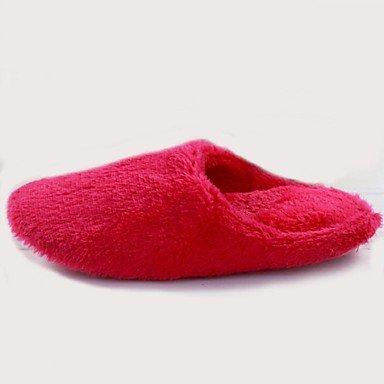 zhENfu invernale da donna casual Pelo Tacco piatto blu rosso,piscina,US7.5 / EU38 / UK5.5 / CN38 Pool