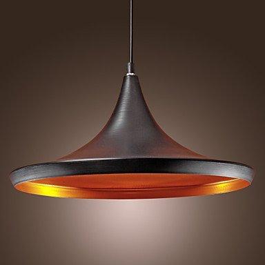 KLSD Ombra Retro luce del pendente annata sospensione moderna luce di soffitto Black Metal soffitto di illuminazione E27 della lampada del dispositivo della luce per Loft Bar Ristorante Chandelier [Classe energetica A +]