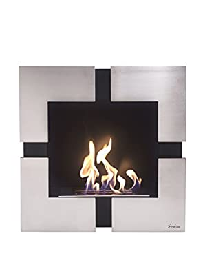 Teseo, Wall-Mounted Bioethanol Fireplace with PURline®, Wall or Flush