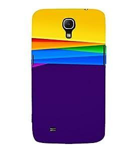 PrintVisa Colorful Art Pattern 3D Hard Polycarbonate Designer Back Case Cover for Samsung Galaxy Mega 6.3
