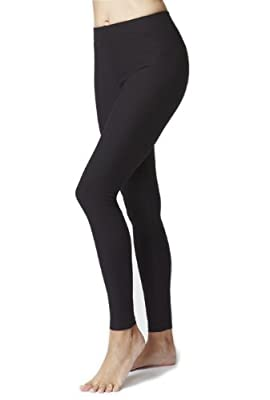 Women's Black Figure Firming Waisted Leggings
