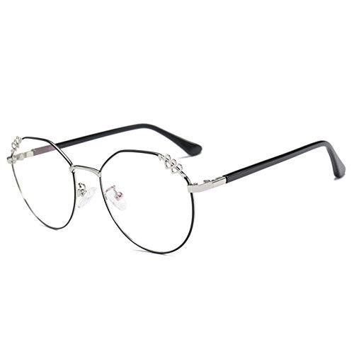 JJHR Sonnenbrillen Große Weiße Spiegelgläser Mit Flachem Rahmen Können Mit Einem Myopie-Rahmen Für Männer Und Frauen Ausgestattet Werden